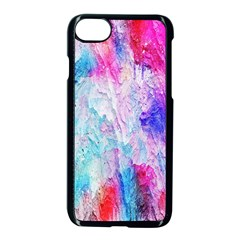 Background Art Abstract Watercolor Apple Iphone 8 Seamless Case (black)