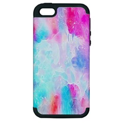 Background Drips Fluid Apple Iphone 5 Hardshell Case (pc+silicone)