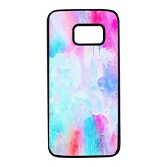 Background Drips Fluid Samsung Galaxy S7 Black Seamless Case by Sapixe