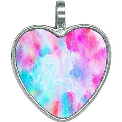 Background Drips Fluid Heart Necklace