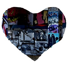 Lost Places Abandoned Train Station Large 19  Premium Flano Heart Shape Cushions