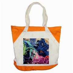 Wool Yarn Colorful Handicraft Accent Tote Bag