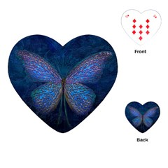 Butterfly Insect Nature Animal Playing Cards (heart) by Sapixe
