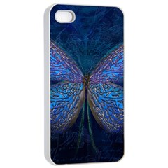 Butterfly Insect Nature Animal Apple Iphone 4/4s Seamless Case (white)