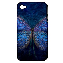 Butterfly Insect Nature Animal Apple Iphone 4/4s Hardshell Case (pc+silicone)