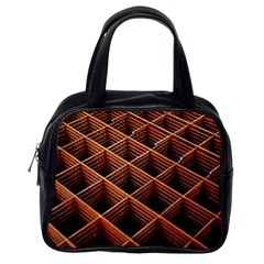 Metal Grid Framework Creates An Abstract Classic Handbag (one Side) by Jojostore