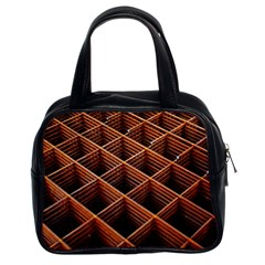 Metal Grid Framework Creates An Abstract Classic Handbag (two Sides) by Jojostore