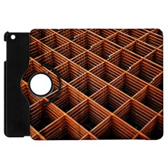 Metal Grid Framework Creates An Abstract Apple Ipad Mini Flip 360 Case by Jojostore