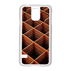 Metal Grid Framework Creates An Abstract Samsung Galaxy S5 Case (white) by Jojostore