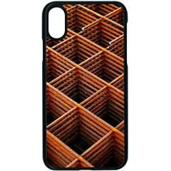 Metal Grid Framework Creates An Abstract Apple Iphone X Seamless Case (black) by Jojostore