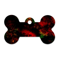 Background Art Abstract Watercolor Dog Tag Bone (two Sides) by Sapixe