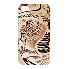 Abstract Newspaper Background Apple Iphone 4/4s Premium Hardshell Case
