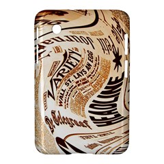 Abstract Newspaper Background Samsung Galaxy Tab 2 (7 ) P3100 Hardshell Case
