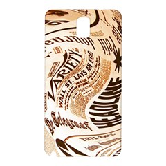Abstract Newspaper Background Samsung Galaxy Note 3 N9005 Hardshell Back Case by Jojostore