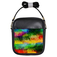 Pattern Texture Background Color Girls Sling Bag by Sapixe