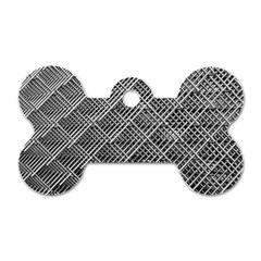 Grid Wire Mesh Stainless Rods Rods Raster Dog Tag Bone (one Side) by Jojostore
