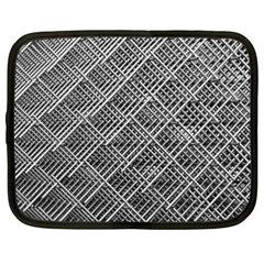 Grid Wire Mesh Stainless Rods Rods Raster Netbook Case (xxl) by Jojostore