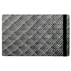 Grid Wire Mesh Stainless Rods Rods Raster Apple Ipad 2 Flip Case by Jojostore