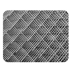 Grid Wire Mesh Stainless Rods Rods Raster Double Sided Flano Blanket (large)