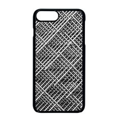 Grid Wire Mesh Stainless Rods Rods Raster Apple Iphone 8 Plus Seamless Case (black) by Jojostore
