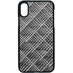 Grid Wire Mesh Stainless Rods Rods Raster Apple Iphone X Seamless Case (black) by Jojostore