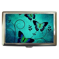 Texture Butterflies Background Cigarette Money Case