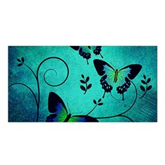 Texture Butterflies Background Satin Shawl