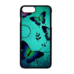 Texture Butterflies Background Apple Iphone 8 Plus Seamless Case (black) by Jojostore