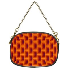 Fractal Multicolored Background Chain Purse (one Side)