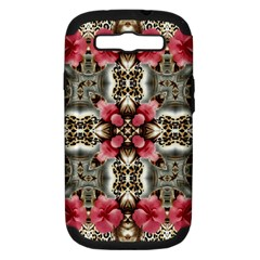 Flowers Fabric Samsung Galaxy S Iii Hardshell Case (pc+silicone)
