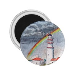 Watercolour Lighthouse Rainbow 2 25  Magnets