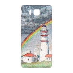 Watercolour Lighthouse Rainbow Samsung Galaxy Alpha Hardshell Back Case