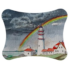 Watercolour Lighthouse Rainbow Jigsaw Puzzle Photo Stand (bow) by Jojostore