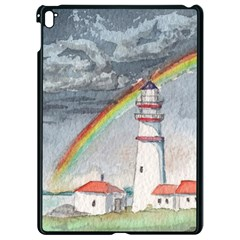 Watercolour Lighthouse Rainbow Apple Ipad Pro 9 7   Black Seamless Case by Jojostore