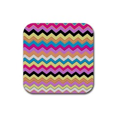 Chevrons Pattern Art Background Rubber Coaster (square)  by Jojostore