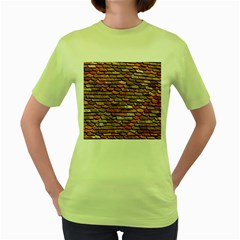 Roof Tiles On A Country House Women s Green T Shirt by Jojostore