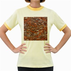 Roof Tiles On A Country House Women s Fitted Ringer T Shirt by Jojostore