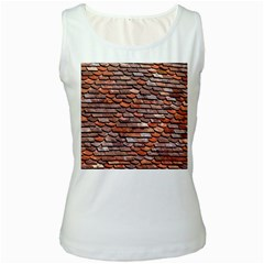 Roof Tiles On A Country House Women s White Tank Top by Jojostore