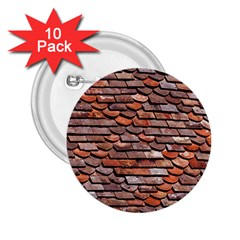 Roof Tiles On A Country House 2 25  Buttons (10 Pack)  by Jojostore