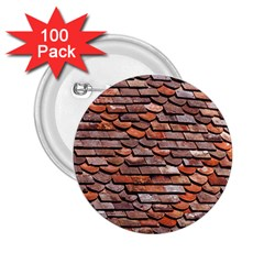 Roof Tiles On A Country House 2 25  Buttons (100 Pack)  by Jojostore