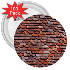 Roof Tiles On A Country House 3  Buttons (100 Pack)  by Jojostore
