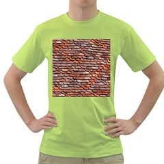 Roof Tiles On A Country House Green T Shirt by Jojostore