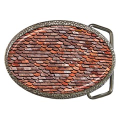 Roof Tiles On A Country House Belt Buckles