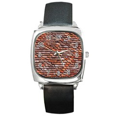 Roof Tiles On A Country House Square Metal Watch by Jojostore