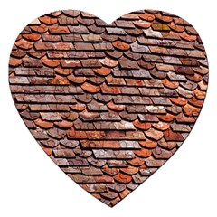 Roof Tiles On A Country House Jigsaw Puzzle (heart) by Jojostore