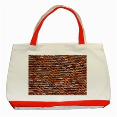 Roof Tiles On A Country House Classic Tote Bag (red) by Jojostore