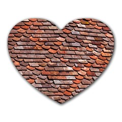 Roof Tiles On A Country House Heart Mousepads by Jojostore