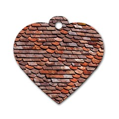 Roof Tiles On A Country House Dog Tag Heart (one Side) by Jojostore