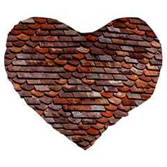 Roof Tiles On A Country House Large 19  Premium Heart Shape Cushions by Jojostore