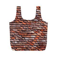 Roof Tiles On A Country House Full Print Recycle Bag (m) by Jojostore